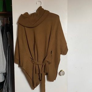 H&M poncho with belt|Colour:Brown |Size: Medium
